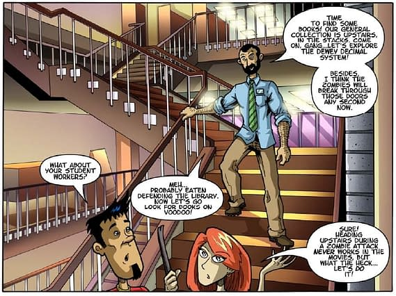 Library Of The Living Dead Becomes Viral Comic Hit