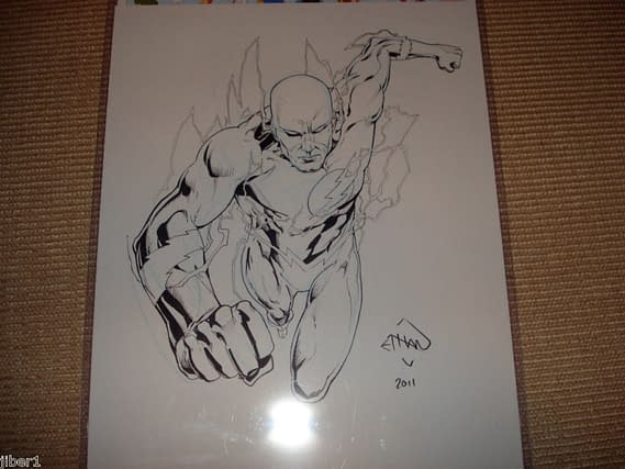 Ethan Van Sciver's Stolen Flash Art Turns Up On eBay
