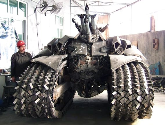 The Incredible Five-Ton Fan-Made Transformers Megatron Tank From China
