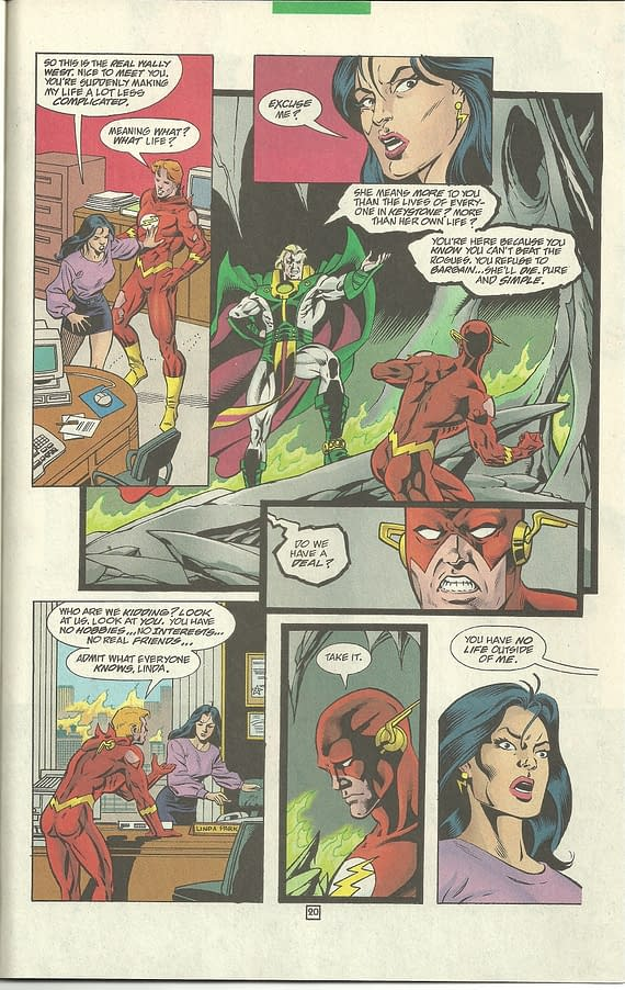 SWIPE FILE: Flash And Spider-Man Selling Their Loves To The Devil