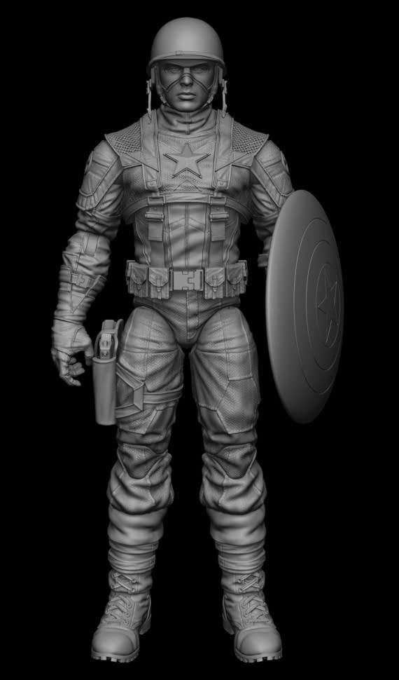 Digital Sculpt Files Of The Captain America Movie Doll