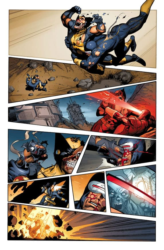 X-Man On X-Man Action In Schism 5 Preview