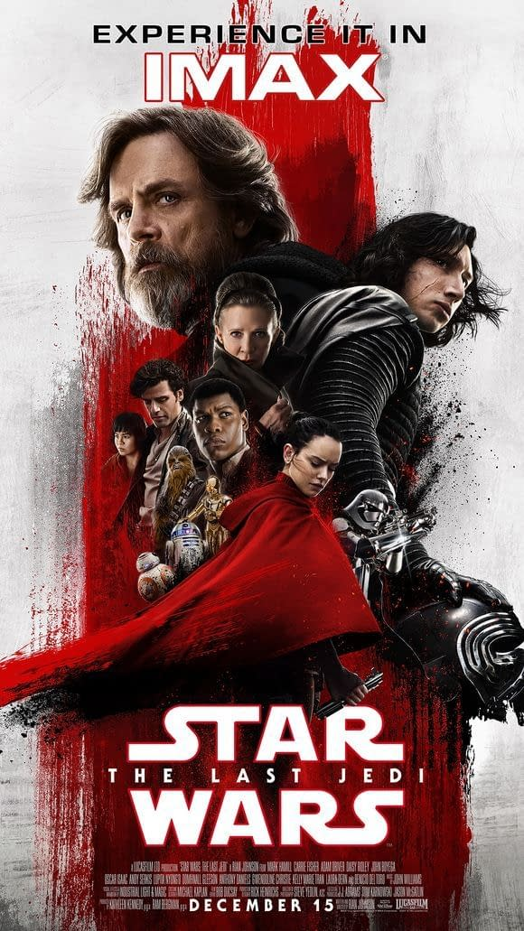 Star Wars: The Last Jedi – New IMAX Poster Paints Rey In Red