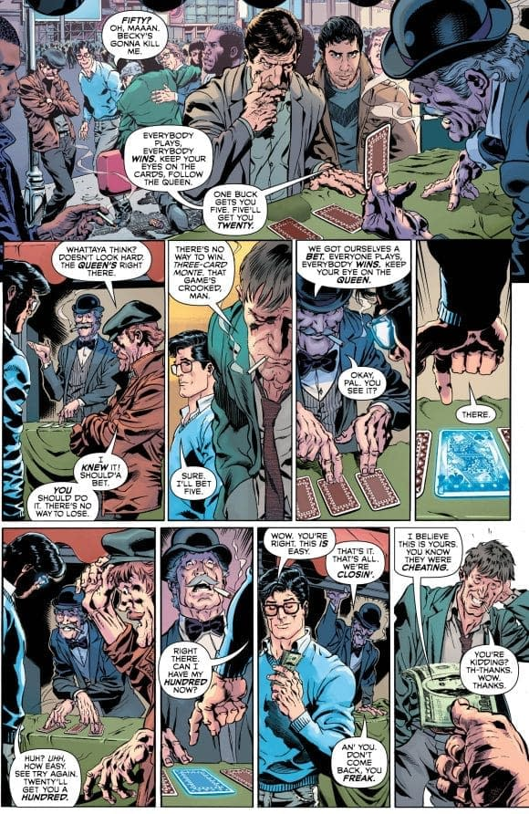 Superman Uses His Powers For… Gambling?! in Next Week's Man and Superman 100-Page Super Spectacular