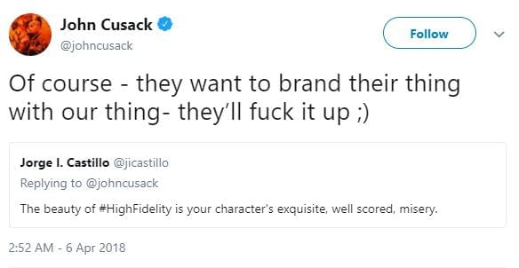 Apparently John Cusack's Not a Huge Fan of Disney's High Fidelity Series