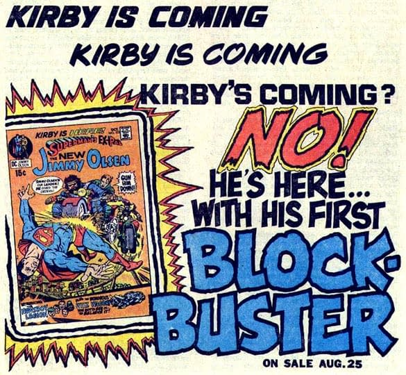 DC Comics Equating the Brian Michael Bendis Move to Jack Kirby?