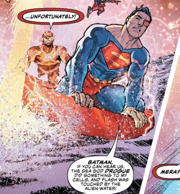 Superman and Penguin, Both Wearing Eyepatches in Tomorrow's Comics