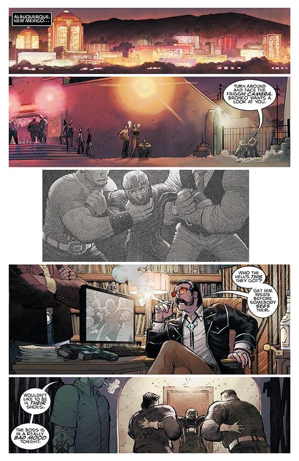 Kick-Ass #1 art by John Romita Jr., Peter Steigerwald, and Megan Madrigal
