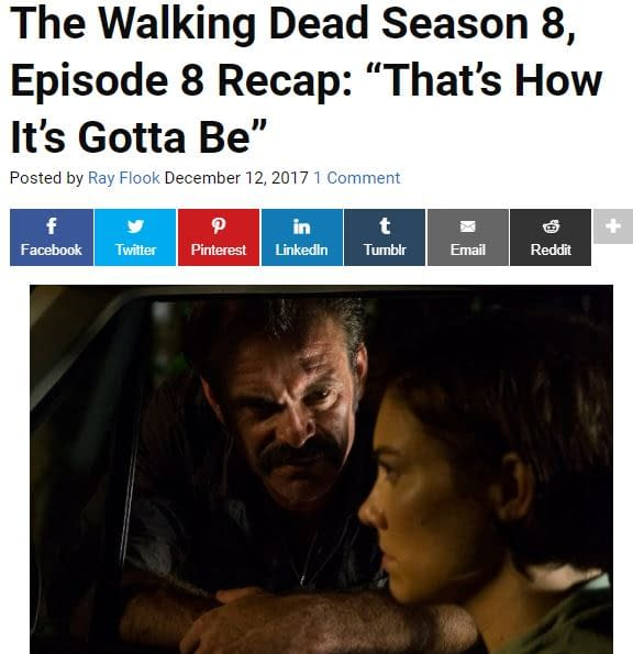 Bring Out Your Dead! 809: Bleeding Cool's The Walking Dead LIVE-BLOG!
