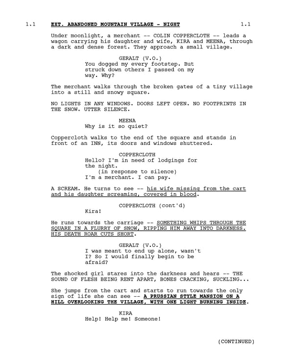 The Withcher released the first page from the Season 2 script. (Image: Netflix)