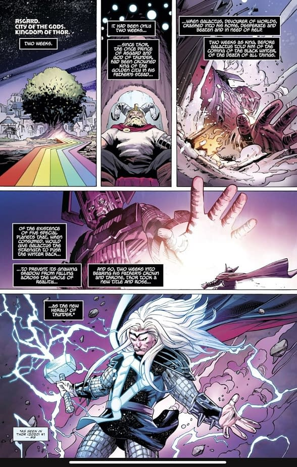 Marvel Makes Fortnite Galactus Comic Part of Thor #4 Continuity
