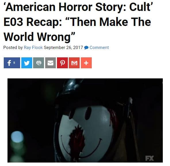 'Cult' Following E04: Bleeding Cool's 'American Horror Story' LIVE-BLOG!