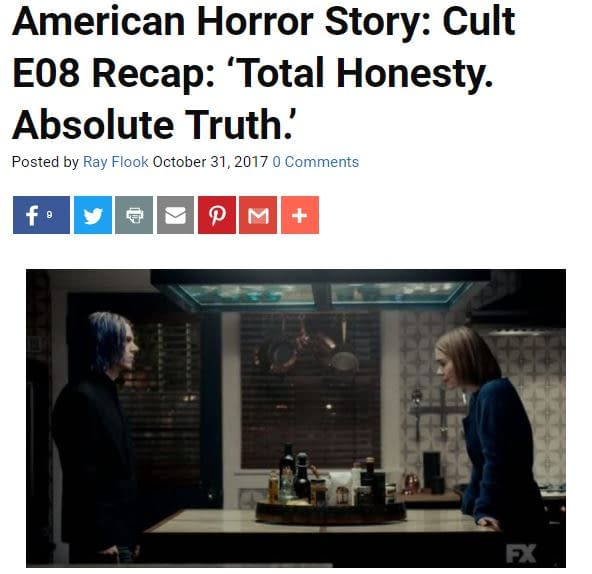'Cult' Following E09: Bleeding Cool's American Horror Story LIVE-BLOG!