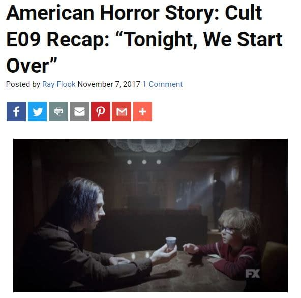 'Cult' Following E10: Bleeding Cool's American Horror Story LIVE-BLOG!