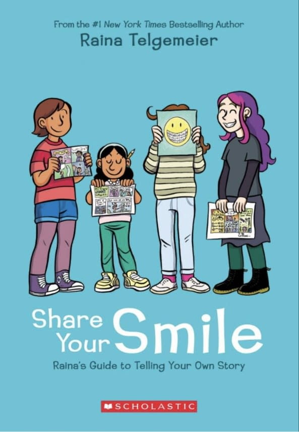 Raina Telgemeier Announces Smile Prequel 'Guts' and How-To-Comic Guide 'Share Your Smile' at NYCC