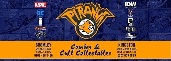 Piranha Comics logo