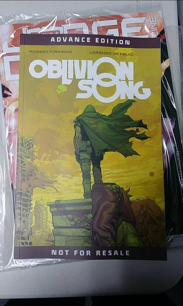 Image/Skybound Sends Retailers Complete Robert Kirkman Oblivion Song Trade Paperback Two Months Before First Issue Published