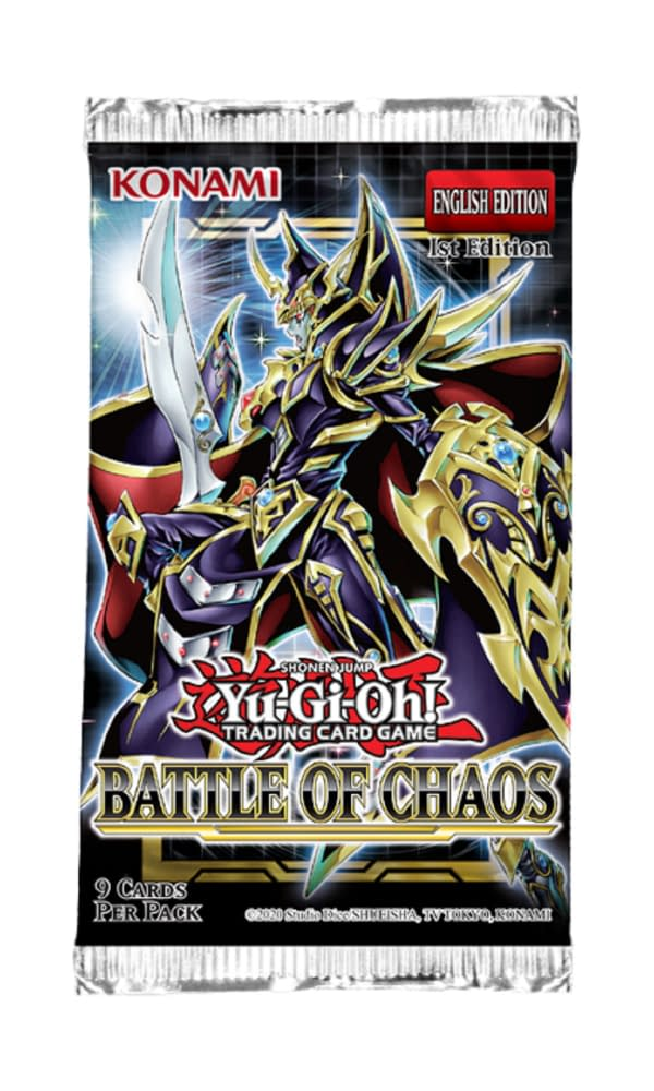 A preview of the packaging artwork for Battle of Chaos, courtesy of Konami.