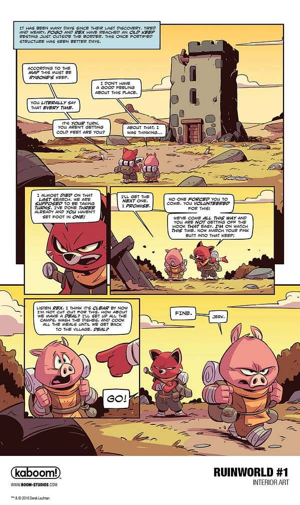 Derek Laufman's RuinWorld Goes Kaboom!