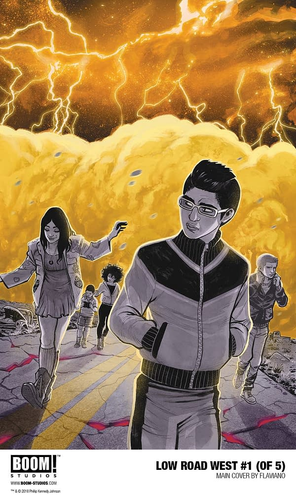 Phillip Kennedy Johnson and Flaviano Take the 'Low Road West' in Post-Apocalyptic America for New BOOM! Series