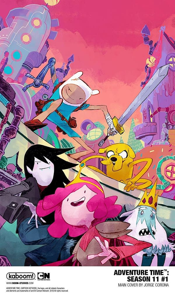 BOOM! Studios to Continue Adventure Time After Cartoon Ends with Season 11 Comic Book