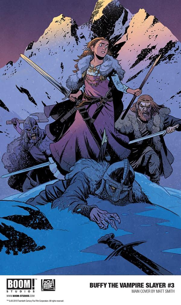A New Viking Slayer on Matt Smith's Variant Cover for Buffy #3?