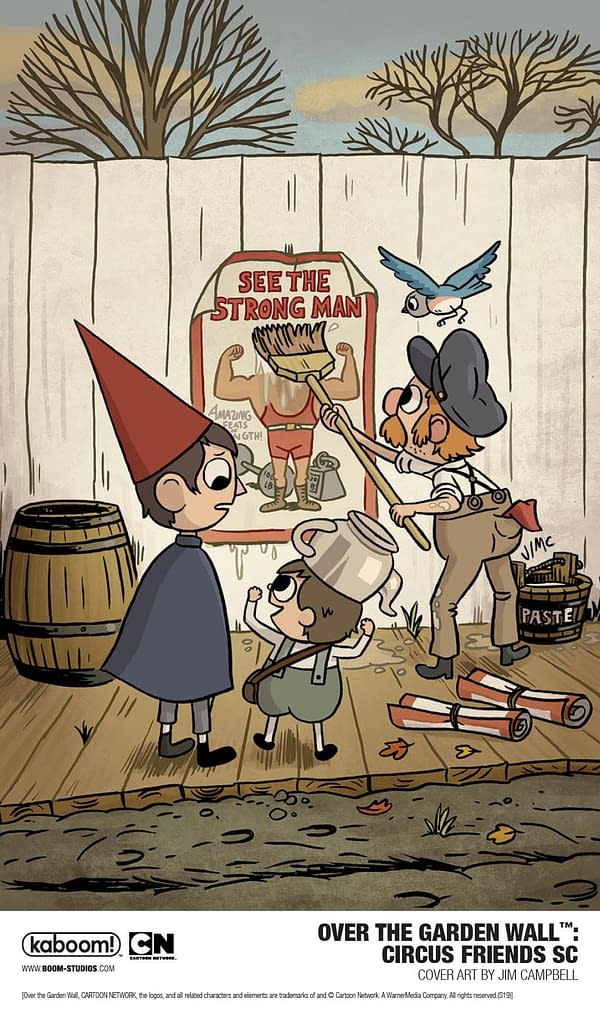 BOOM! Announces New Over the Garden Wall OGN Circus Friends