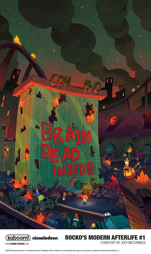 O-Town Faces the Zombie Apocalypse in Rocko's Modern Afterlife from BOOM! in April