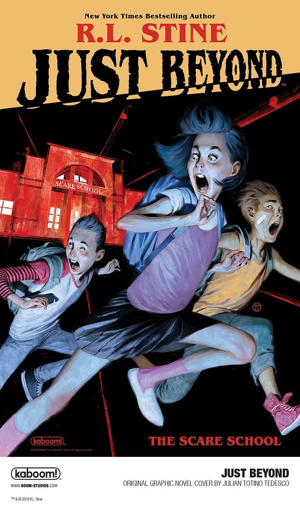 "First Look at R.L. Stine's ""First"" Graphic Novel, Just Beyond: The Scare School"