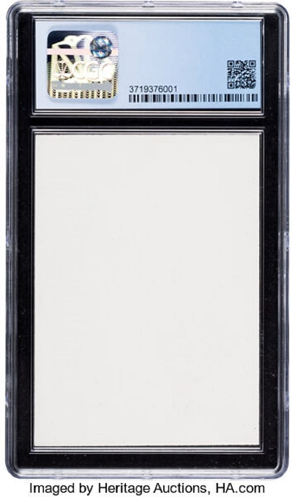 """The blank back face of the 8.5-graded """"Galaxy Star"""" Holofoil Blastoise Pokémon TCG card being auctioned at Heritage Auctions right now!"""