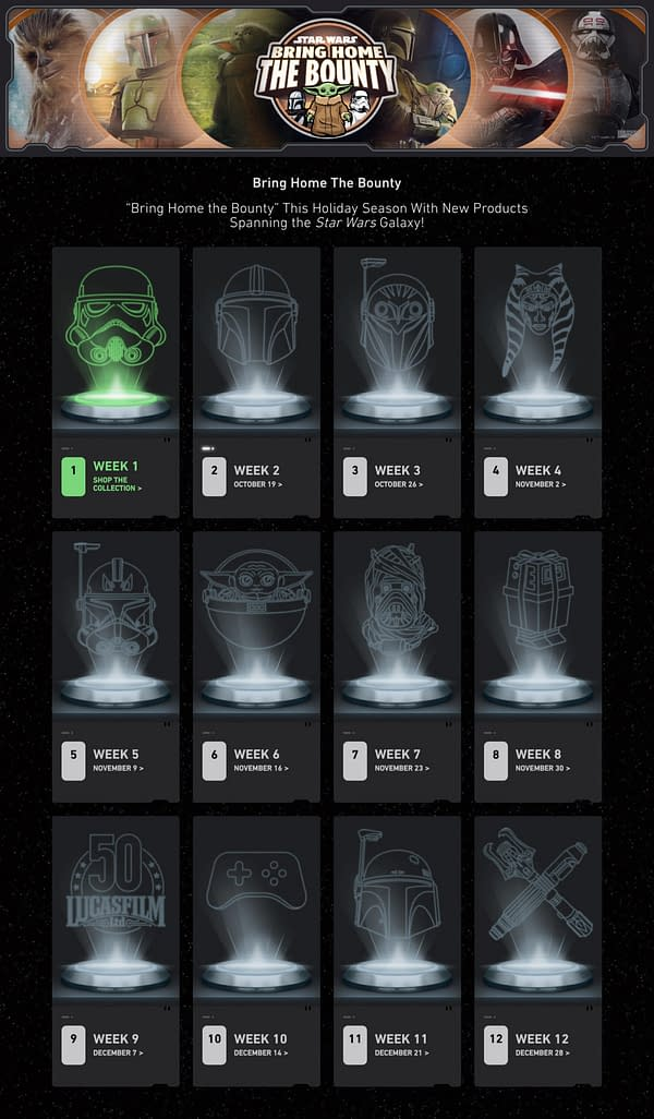 Disney Announces Star Wars Bring Home the Bounty Collectible Reveals