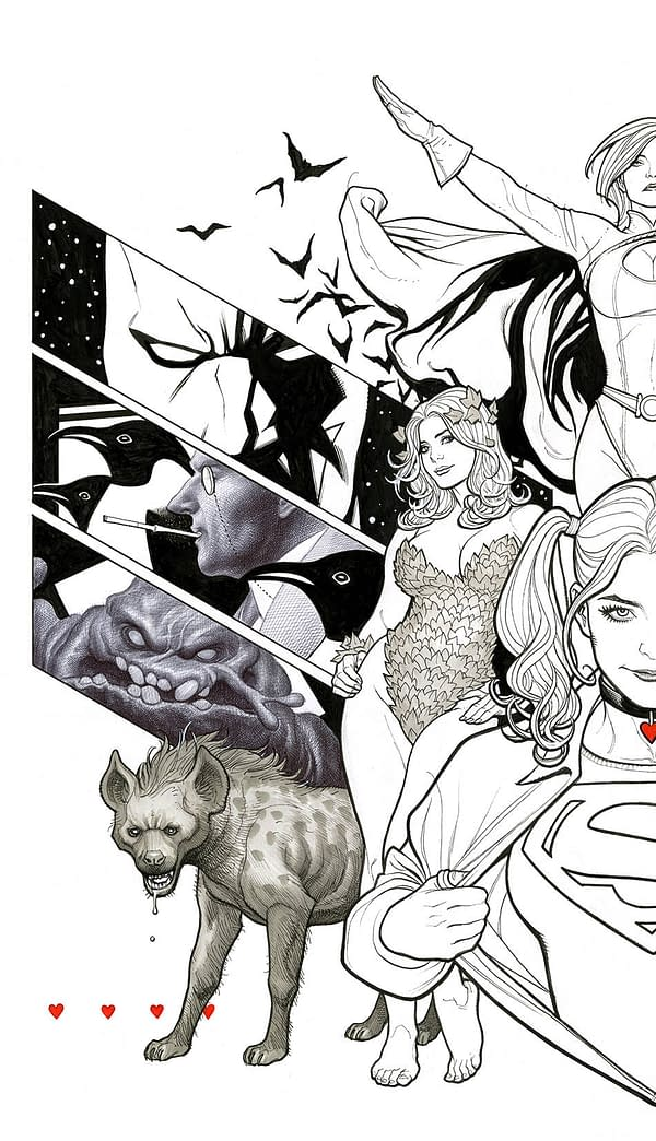 Frank Cho Draws His Gotham Across Harley Quinn #41 and #42 Covers