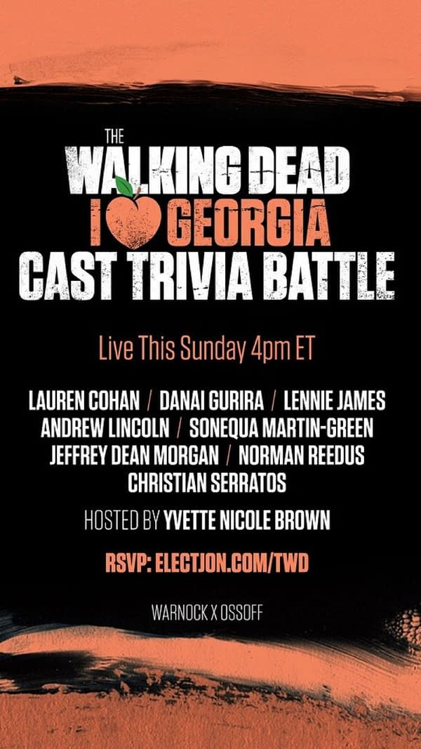 The Walking Dead cast reunite for a good cause. (Image: TWD)