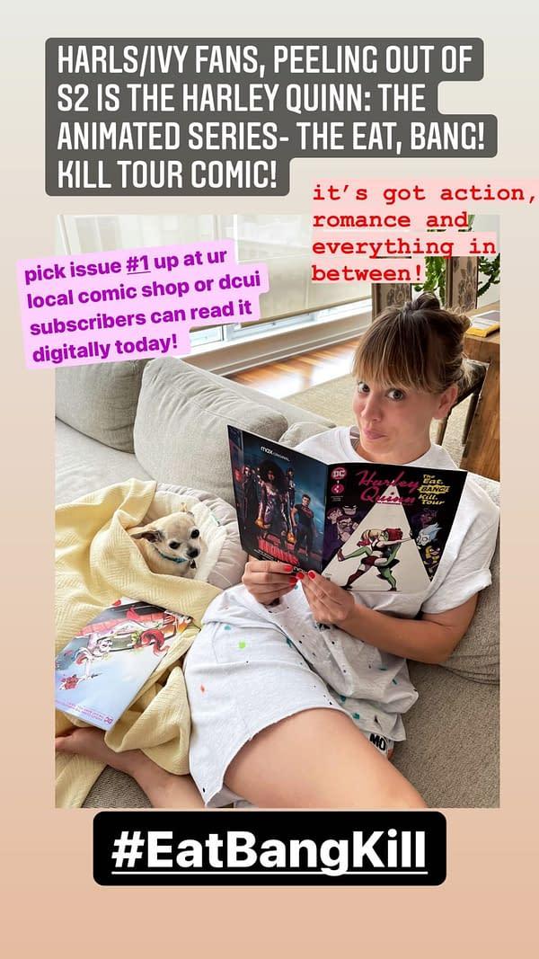 How Did Kaley Cuoco Get Two Copies Of Harley Quinn: Eat, Bang & Kill?