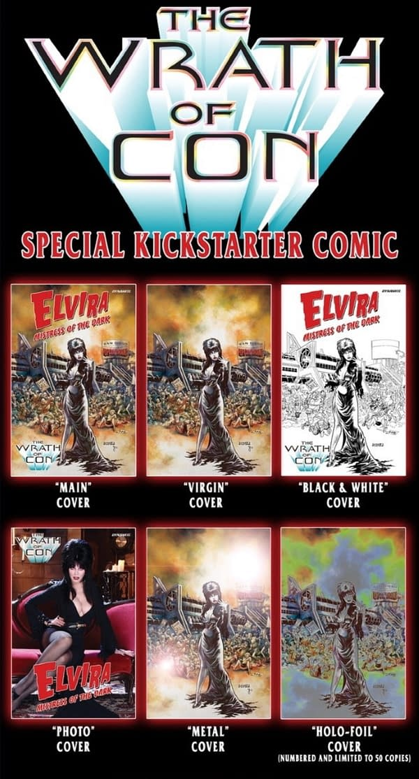 Dynamite Sell Exclusive Elvira Comic On Kickstarter, Not Comic Shops