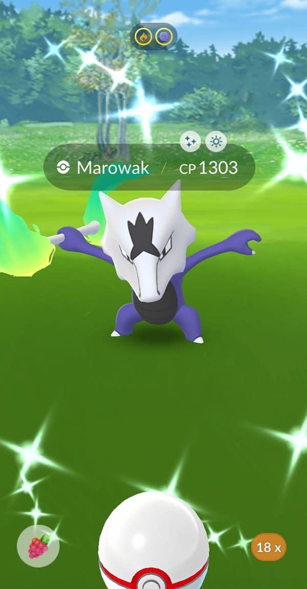 Shiny Alolan Marowak in Pokémon GO. Credit: Theo Dwyer's account.