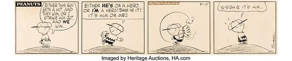 Peanuts Baseball Strip Up For Auction Over At Heritage Right Now