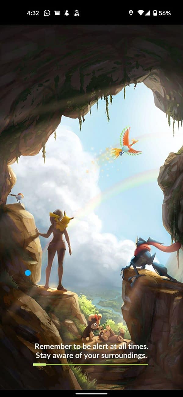 Jason Marino's January 2021 loading screen for Pokémon GO. Credit: Niantic