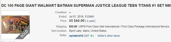 DC's Walmart $5 100-Page Anthologies Selling for Up to $23 on eBay