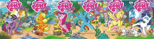 Eighteen Of The Nineteen Covers For My Little Pony #1