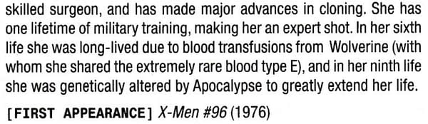 Moira MacTaggert Has The Same 1-In-8-Billion Bloodtype as Wolverine?
