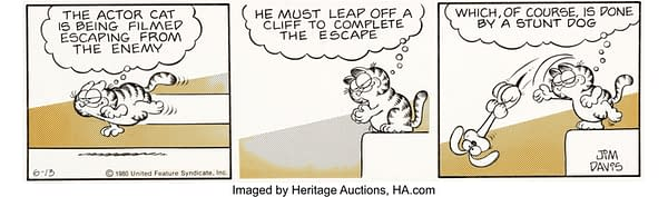 Funny Garfield Strip Art Up For Auction At Heritage Auctions