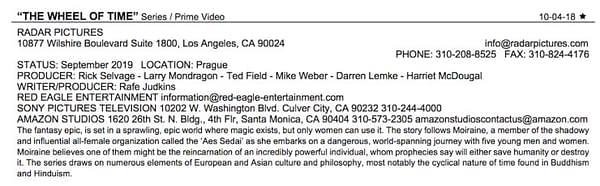 Amazon's 'Wheel Of Time' Series Description, Production Start Date