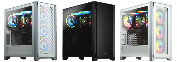 A look at the CORSAIR 4000 Series Mid-Tower Cases.