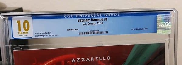 Batman Damned #1 CGC 10.0 Sells For $1800 on eBay
