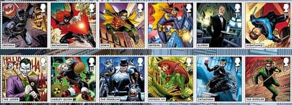 Jim Cheung Draws DC Comics Superheroes For British Royal Mail Stamps