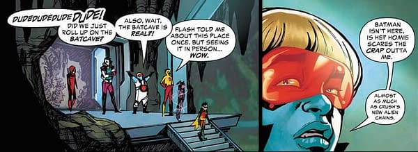 Why Are the Teen Titans Robbing the Batcave in This Week's Teen Titans #26