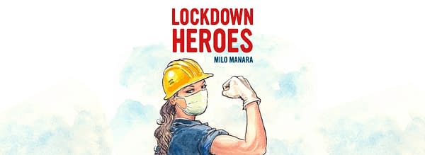 The cover image for Lockdown Heroes by Milo Manara. Image Credit: https://www.milomanara.it/