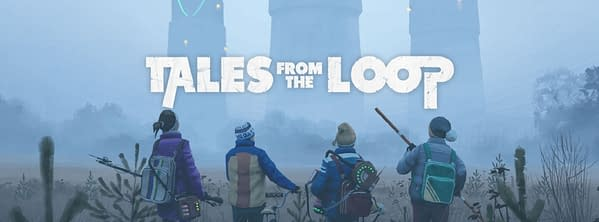 A promotional header for the Tales From The Loop role-playing game by Free League Publishing.