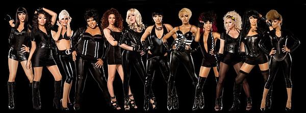 The contestants for RuPaul's Drag Race season 2, courtesy of Logo.